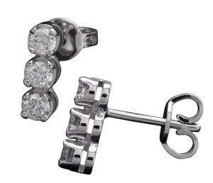 3003 – Orecchini punto luce in oro bianco e diamanti naturali
