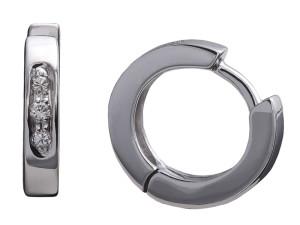 3011 - Orecchini in oro bianco e diamanti naturali
