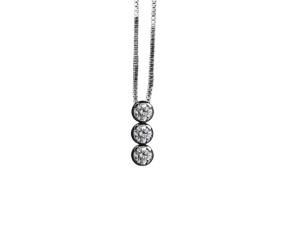 5004 - Collana classica in oro bianco e diamanti naturali