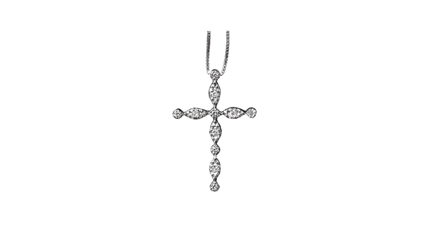 5012 – Collana in oro bianco e diamanti naturali
