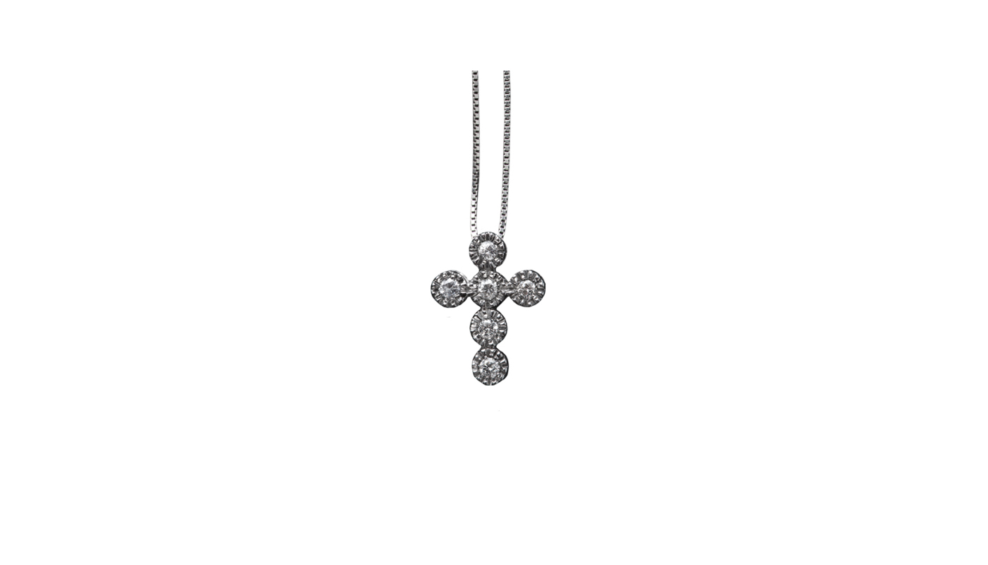 5013 – Collana in oro bianco e diamanti naturali