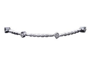 5998 - Bracciale in oro bianco e diamanti naturali