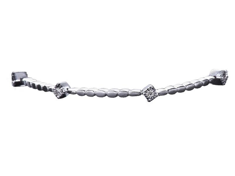 5998 – Bracciale in oro bianco e diamanti naturali
