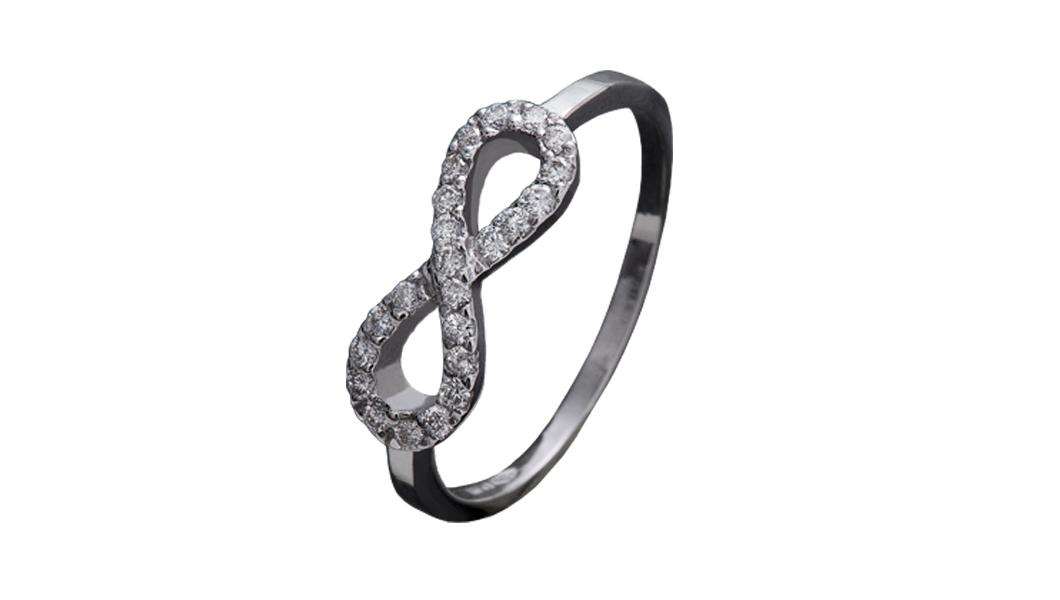 983 – Anello in oro bianco e diamanti naturali