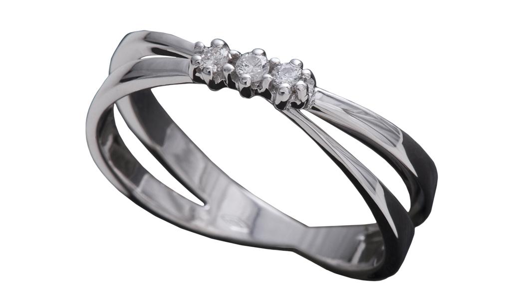 990 – Anello in oro bianco e diamanti naturali