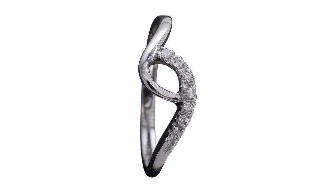 994 – Anello in oro bianco e diamanti naturali