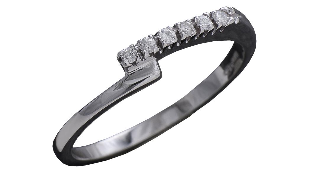 995 – Anello in oro bianco e diamanti naturali