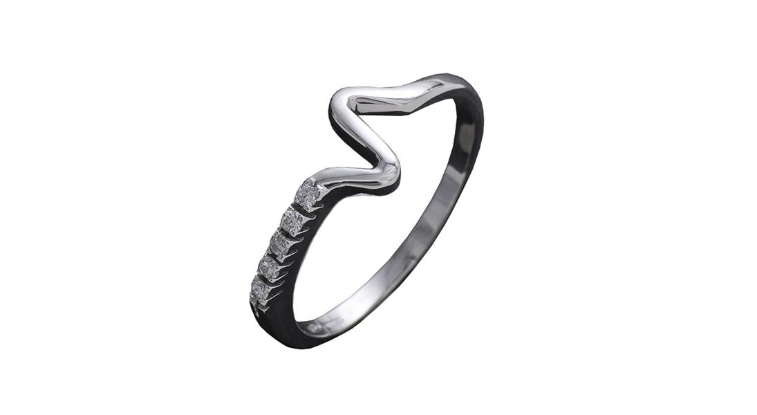 996 – Anello in oro bianco e diamanti naturali